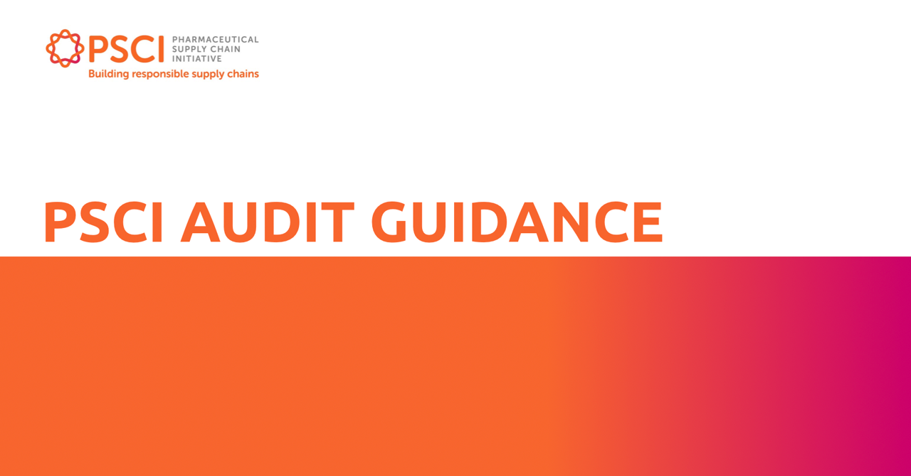 Launch: Updated PSCI Audit Guidance