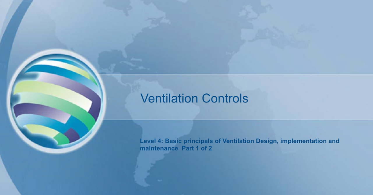 Basic principles ventilation