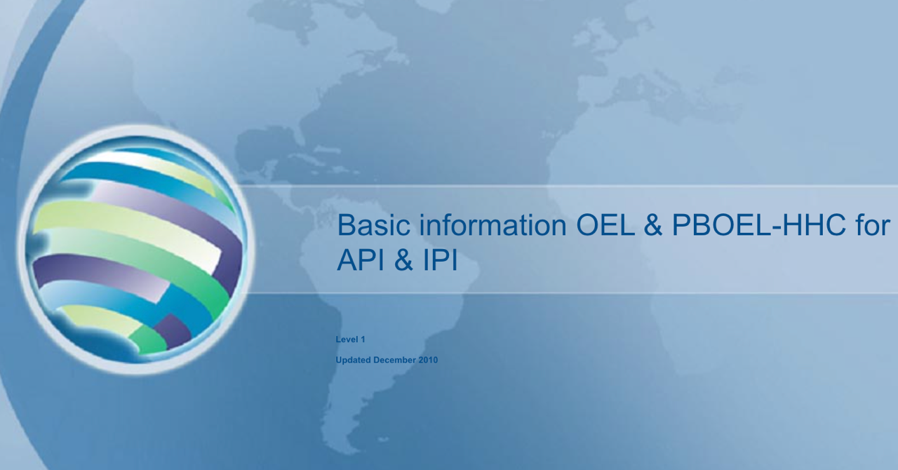 Basic Informatoin for OEL PBOEL-HHC IPI and API